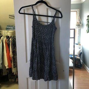 h&m navy floral mini dress